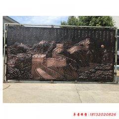 校园沁园春雪铜浮雕