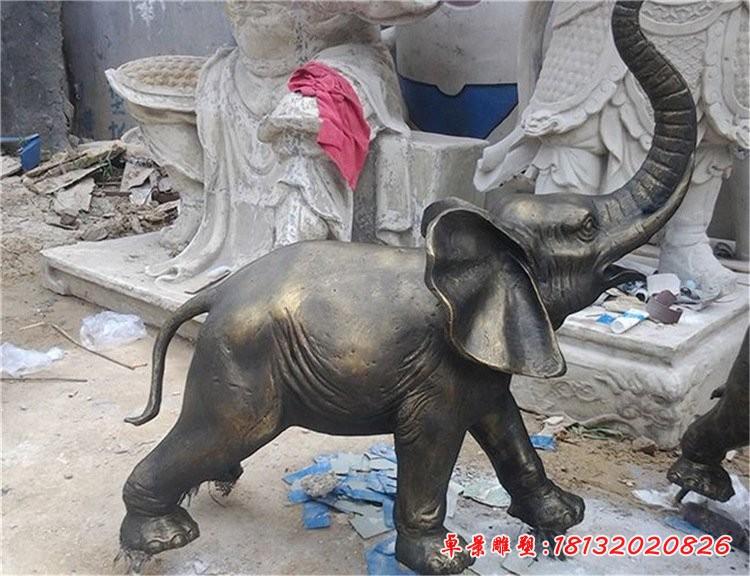 公园动物大象铜雕