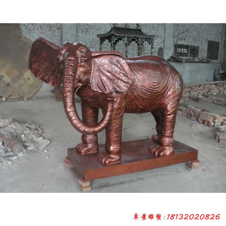 铜雕大象动物雕塑