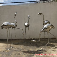镜面不锈钢火烈鸟雕塑