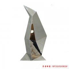 不锈钢抽象企鹅雕塑