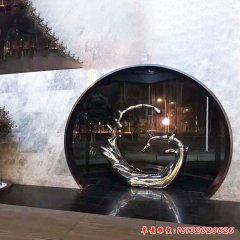 不銹鋼鏡面水花雕塑