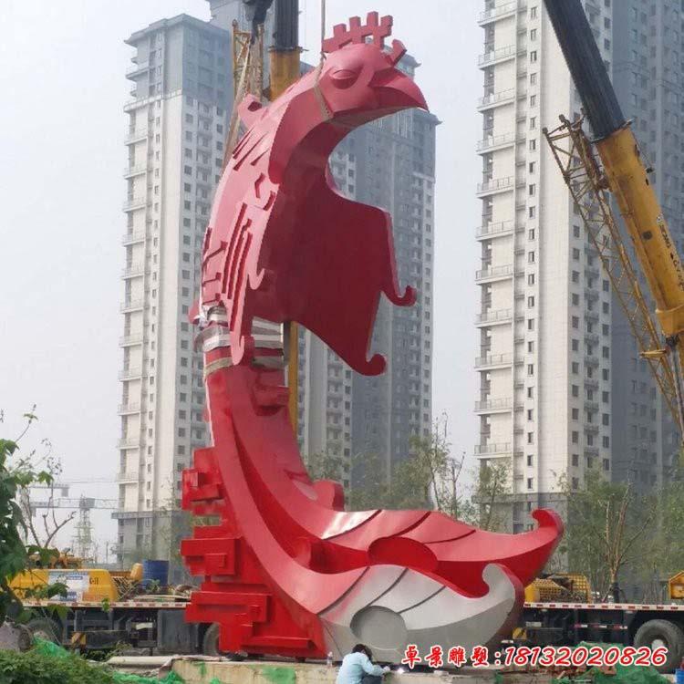 大型不銹鋼抽象鳳凰雕塑