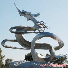 不锈钢抽象龙雕塑