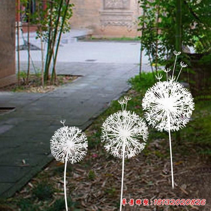 不銹鋼蒲公英植物雕塑