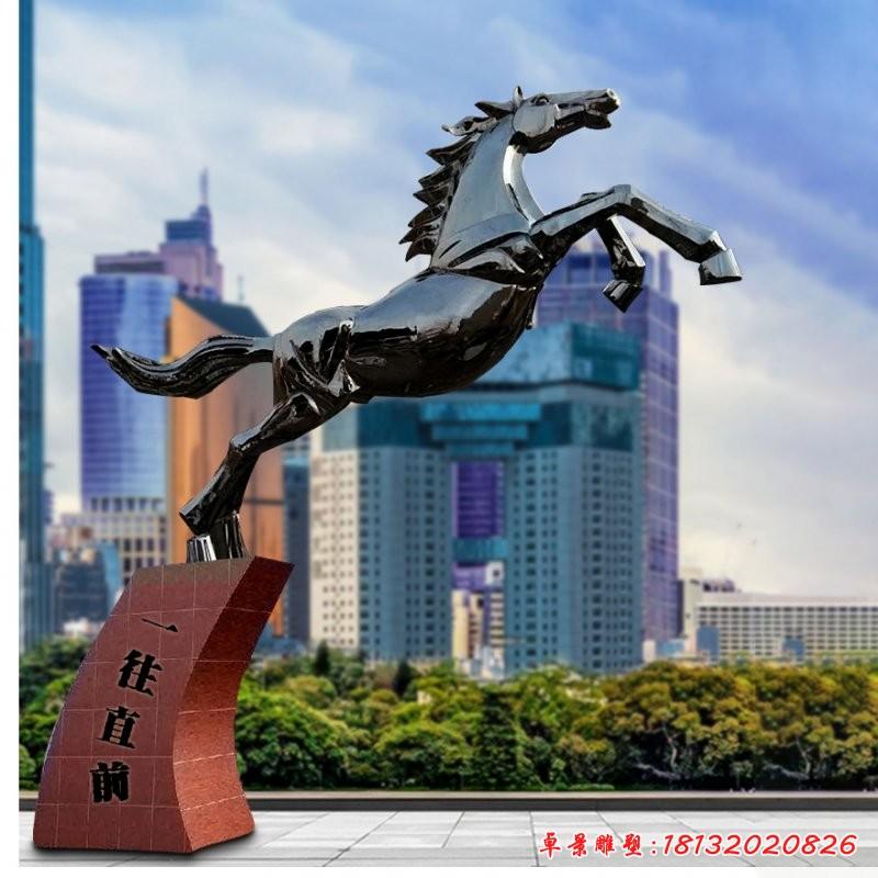 不锈钢奔马雕塑