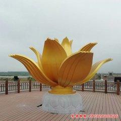 不锈钢金色莲花雕塑