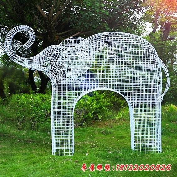 不锈钢抽象大象雕塑