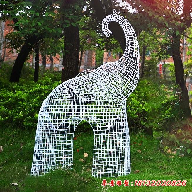 不锈钢抽象大象