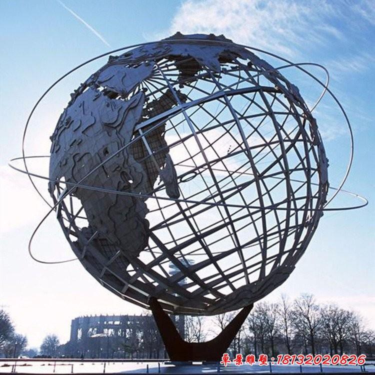 广场不锈钢地球仪雕塑