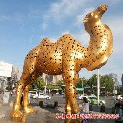 不锈钢大型抽象骆驼雕塑