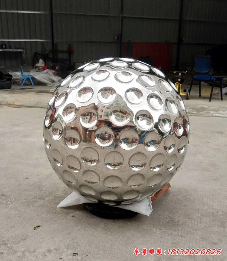 不锈钢高尔夫球雕塑