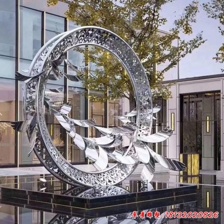 不锈钢大雁雕塑