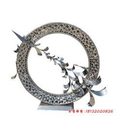 不锈钢抽象大雁雕塑