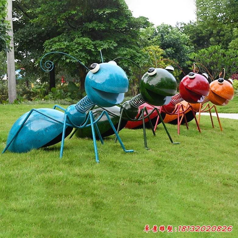 不锈钢动物蚂蚁雕塑