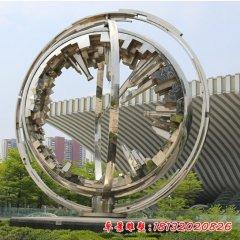 不锈钢城市缩影雕塑