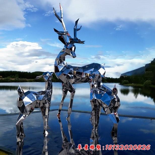 不锈钢抽象雕塑鹿