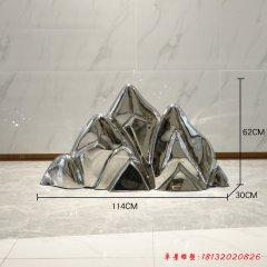 不锈钢镜面假山雕塑
