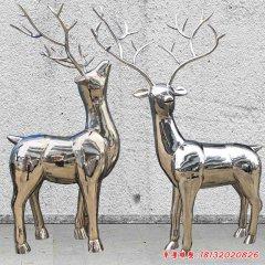 不锈钢镜面小鹿雕塑