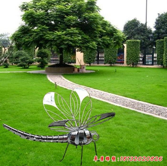 公园不锈钢蜻蜓雕塑