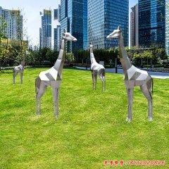 不锈钢抽象长颈鹿雕塑