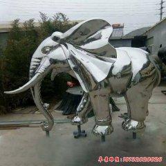 不锈钢镜面大象雕塑
