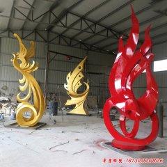 不锈钢抽象凤凰雕塑