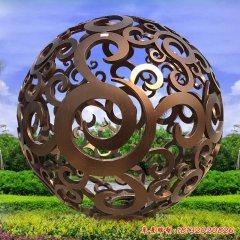 不锈钢镂空球雕塑
