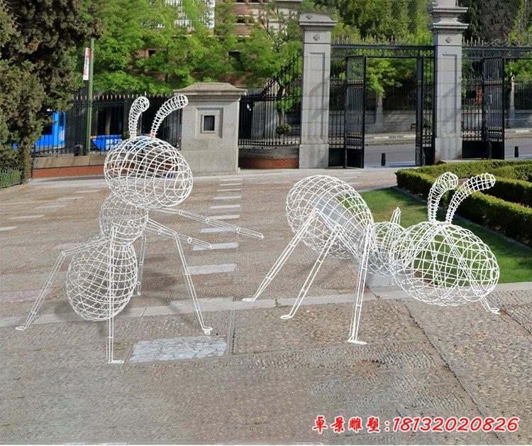 不锈钢编织蚂蚁雕塑