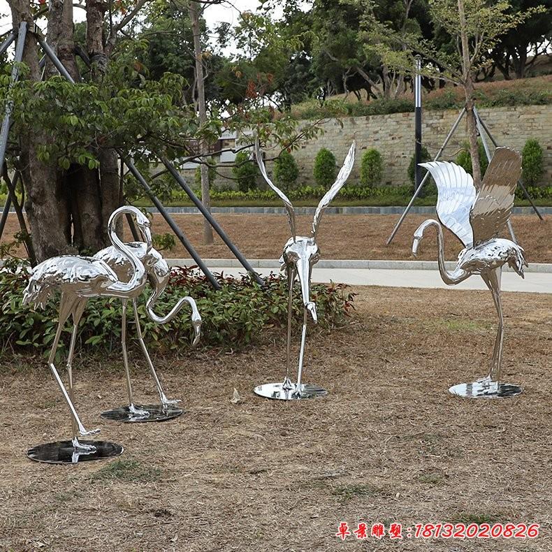 不锈钢火烈鸟雕塑