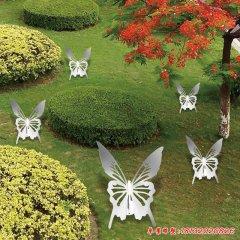 不锈钢抽象蝴蝶雕塑