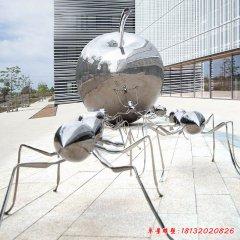不锈钢蚂蚁苹果雕塑