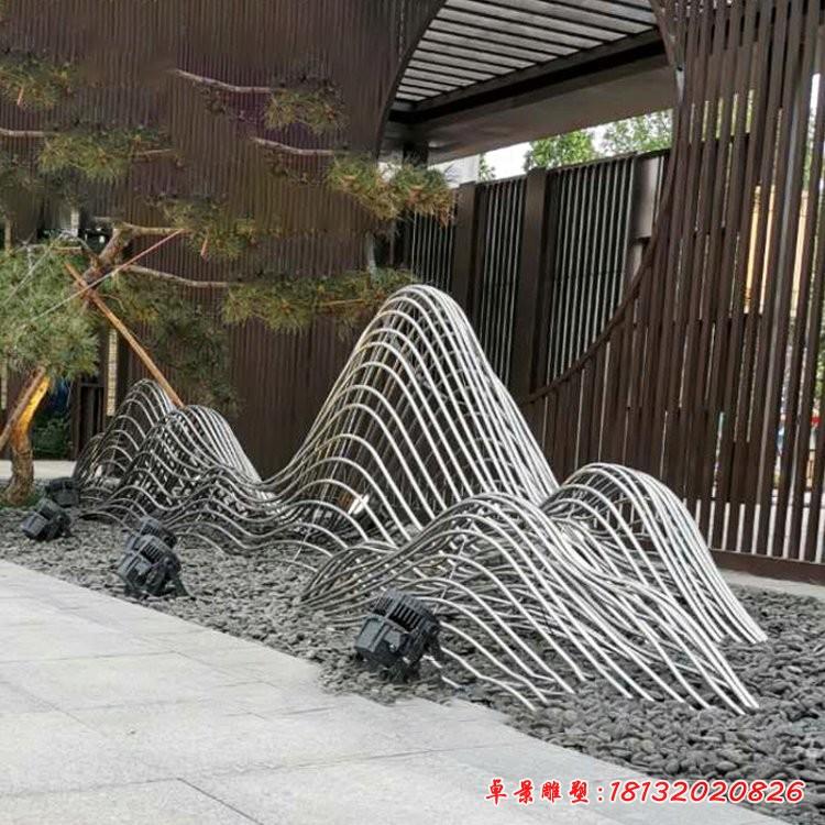 不锈钢假山水景雕塑