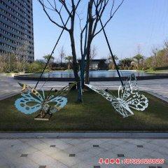不锈钢镜面蝴蝶雕塑