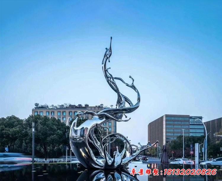 不锈钢水花雕塑