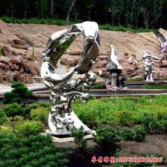 不锈钢跳跃的海豚雕塑