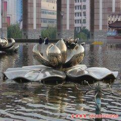 不锈钢大型莲花雕塑