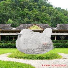 不锈钢镂空鸟雕塑