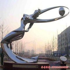 不锈钢镜面抽象仙女雕塑