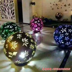 不锈钢梅兰竹菊镂空球