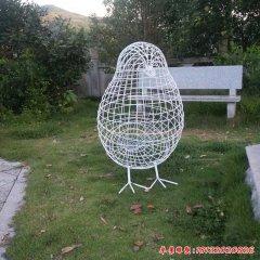 不锈钢编织镂空鸟雕塑