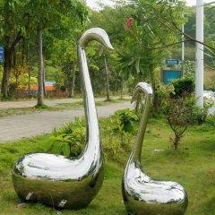 镜面不锈钢抽象天鹅雕塑