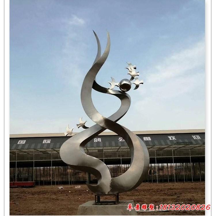 不锈钢飞翔的鸽子雕塑