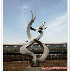 企业不锈钢飞翔的鸽子雕塑