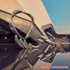 不锈钢镜面抽象鱼雕塑