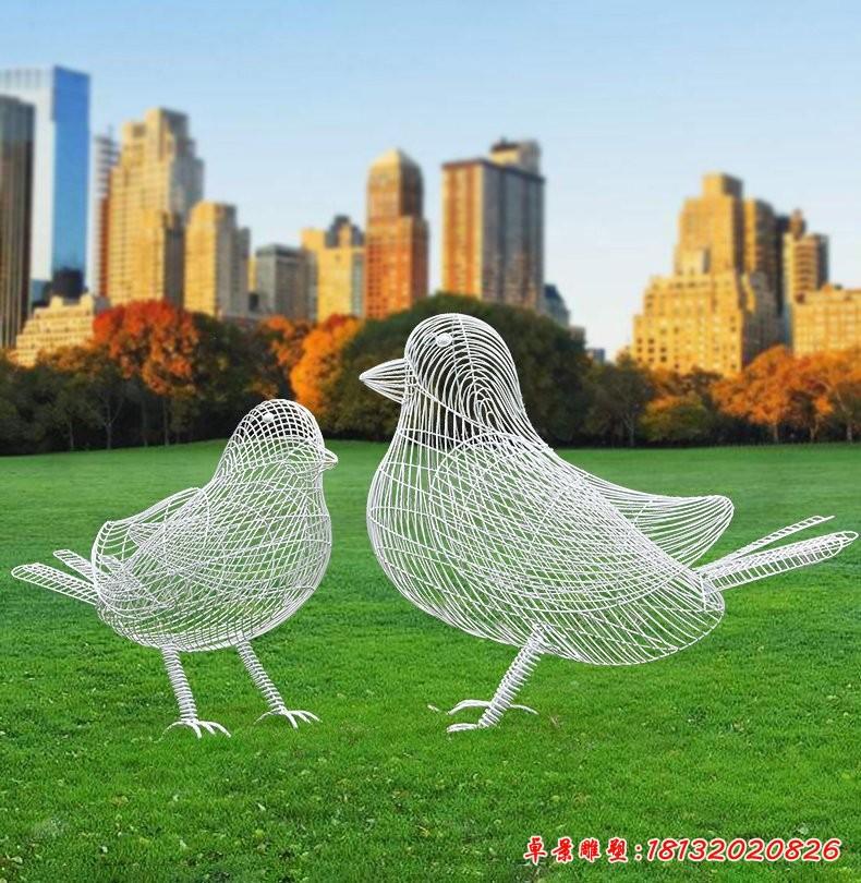 小鸟镂空不锈钢雕塑