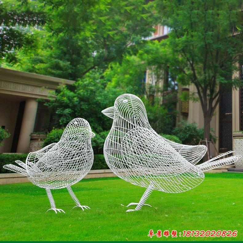 不锈钢抽象小鸟雕塑