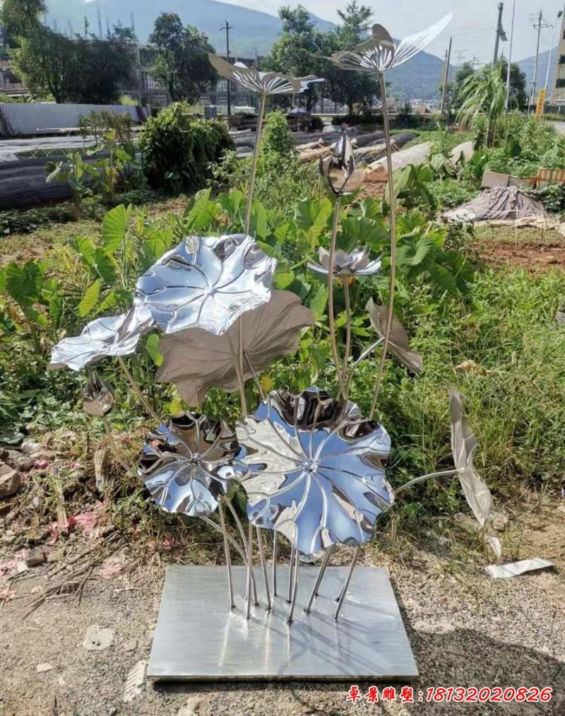 庭院不锈钢荷花雕塑