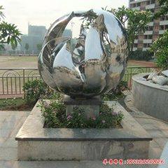 不锈钢镜面抽象花朵雕塑