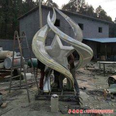 不锈钢抽象星火燎原雕塑